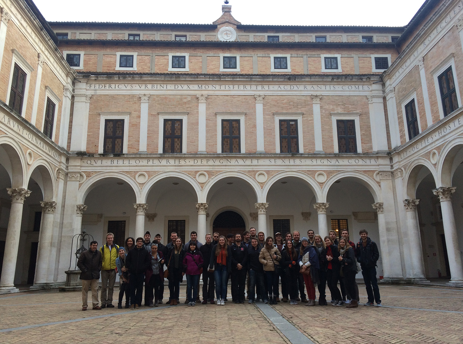 Study abroad group in Italy