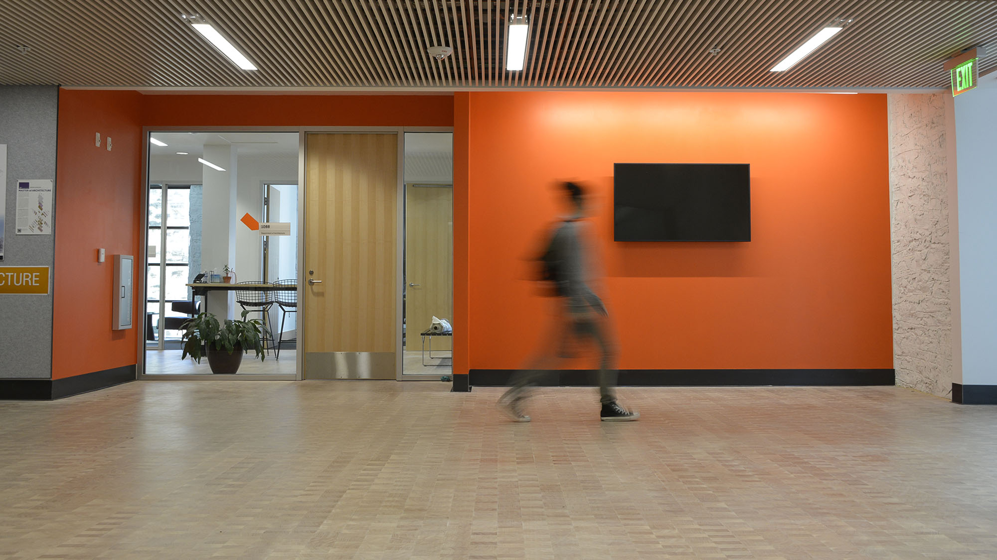 Orange Office Wall; architecture