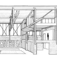 Jacob Kelly-Salo's KC Bike Kitchen Project. Second place winner of the 2015 AIA Kansas Student Design Competition. Prof. Bruce Wrightsman's studio.