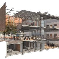 Lanting Su's Crossroads Brewery project. Winner of the 2015 AIA Kansas Design Competition and the 2014 Manko Design Competition. Prof. Nathan Howe's studio.